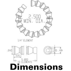 41401 — 1/4″  Сегменты — 30 см (20 сегментов)