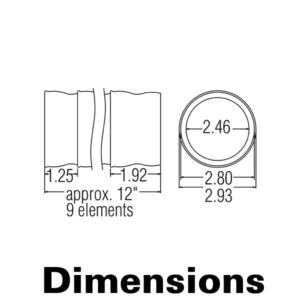 Антистатические сегменты для вакуумных систем 2.5″. Комплект из 9 сегментов (общая длина 30 см)